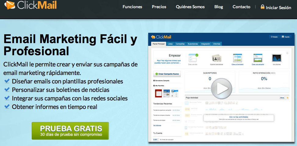 ClickMail Offer! - Email marketing fácil, profesional y efectivo