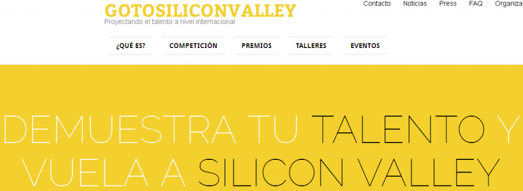 Arranca la competición GoToSiliconValley por @2SiliconValley