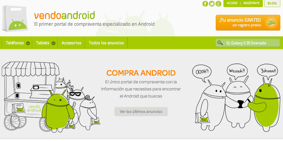 VendoAndroid.com Offer! - Compra y vende dispositivos Android en un click!