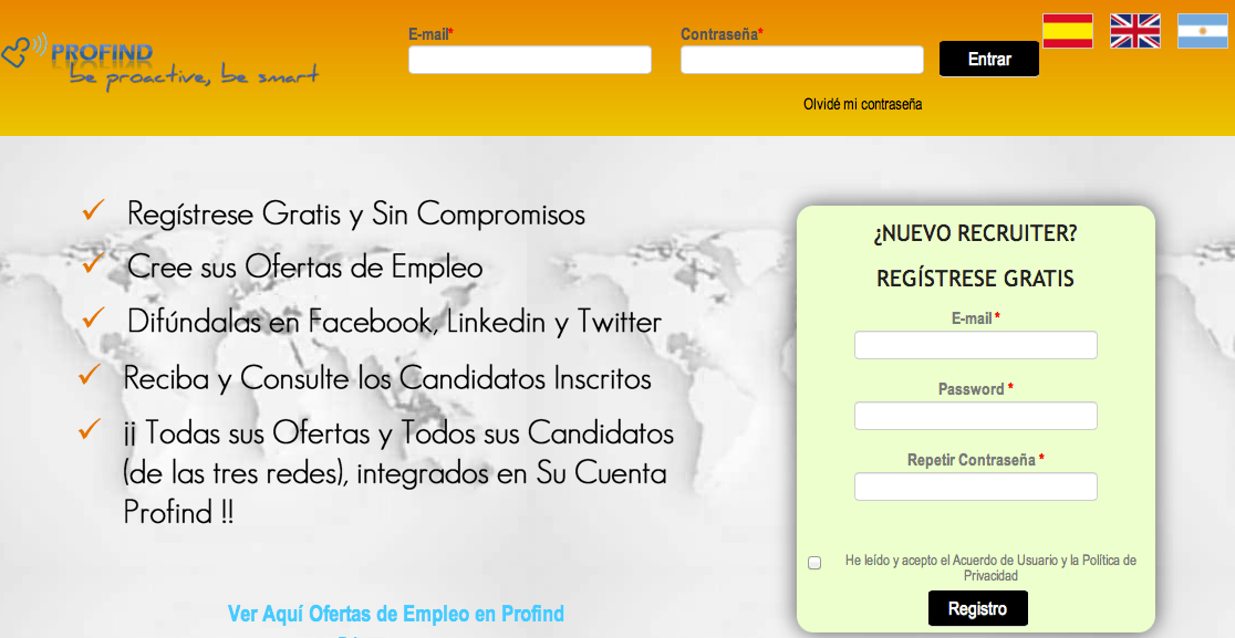 Profind Offer! - Usa esta herramienta de Recruitment gratis durante un mes!
