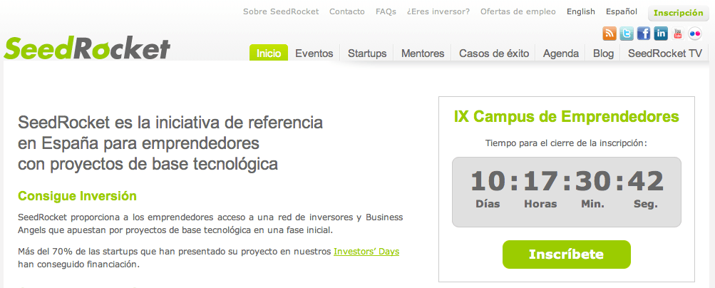 IX Campus SeedRocket para Emprendedores