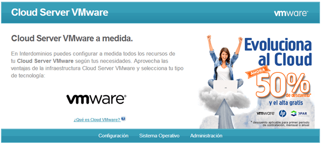 Interdominios Offer - Cloud Server VMware
