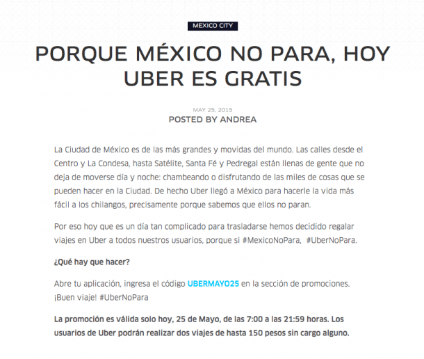 Ejemplos Growth Hacking - Uber