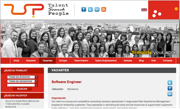 Talent Search People necesita un Software Engineer #tsJobs!