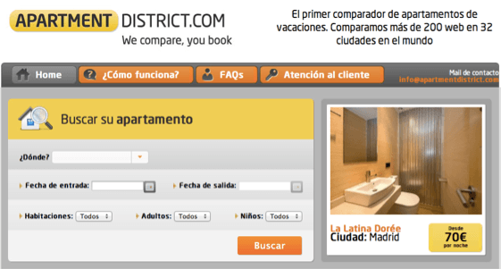 Apartment District Site - Comparador de apartamentos de vacaciones