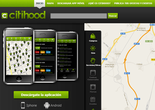 Experiencia CitiHood - La primera red de ciudad en web y movil
