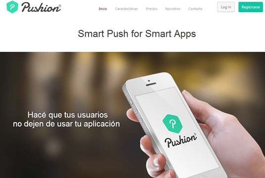 Pushion Site - Notificaciones Push para Apps Moviles